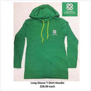 Hooded long sleeved t-shirt - green