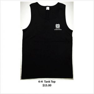 Tank top with logo - black