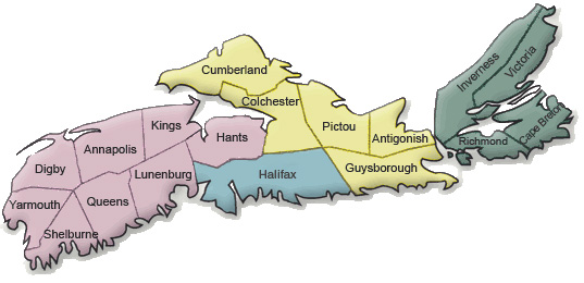 4-H Nova Scotia Region Map