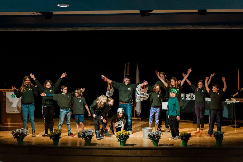 Group performing at 4-H Weekend 19