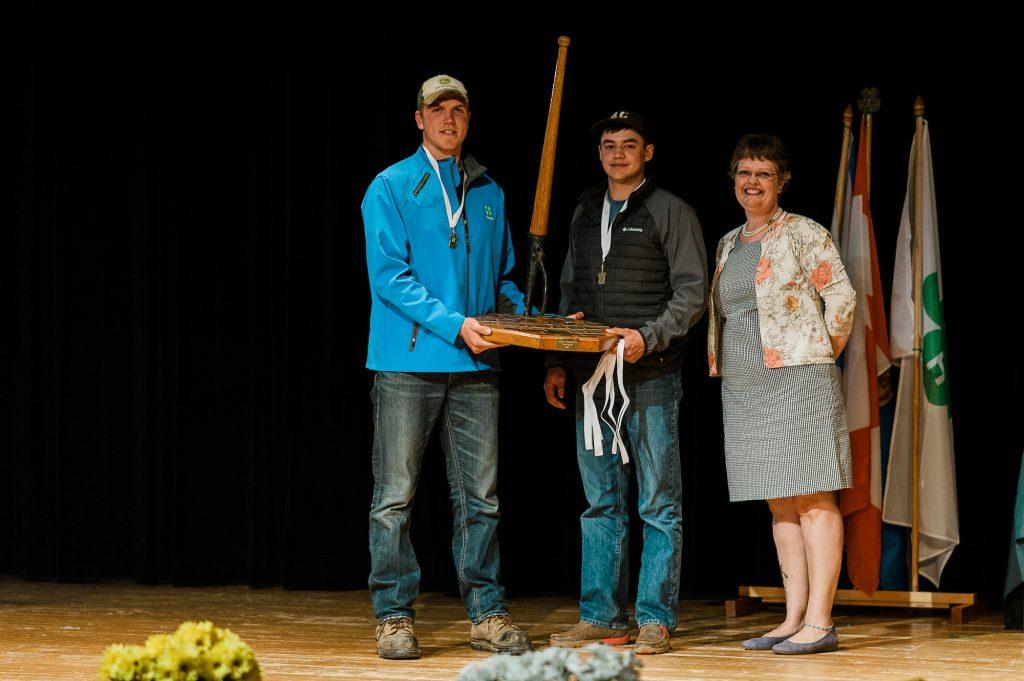 Boys winning an award