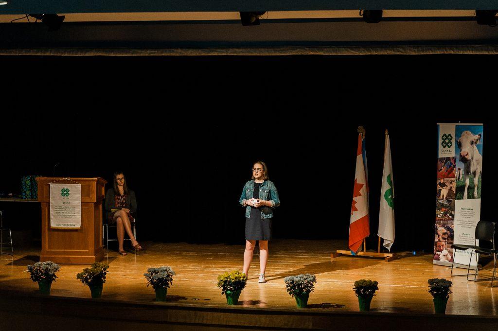 Girl public speaking