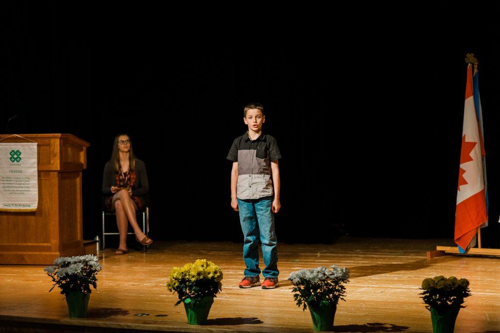 Boy public speaking