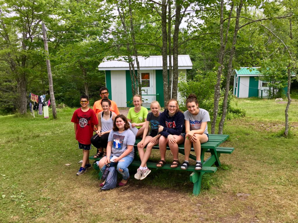 Camp Rankin Campers at Cabins