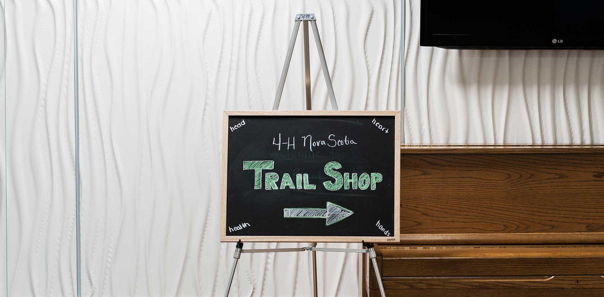 4-H Nova Scotia Trail Shop Sign