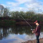Haylen Bezubiak fishing